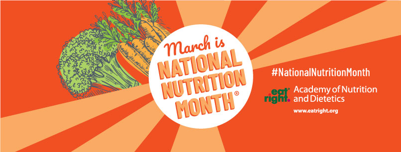 2018 National Nutrition Month banner