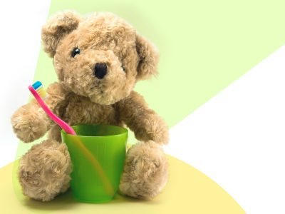 Teddy Bear with Toothbrush