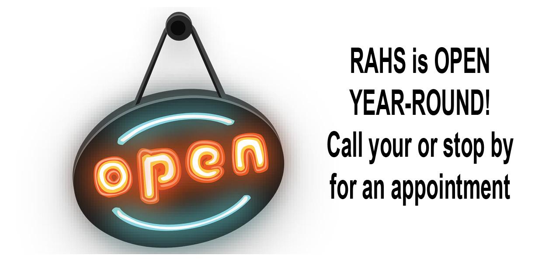 RAHS is open year-round